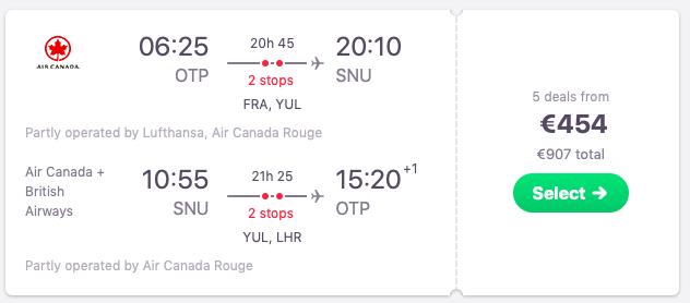 Flights from Bucharest to Santa Clara, Cuba