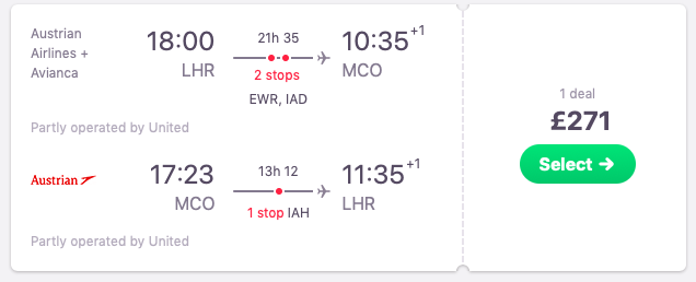 Flights from London to Orlando, Florida