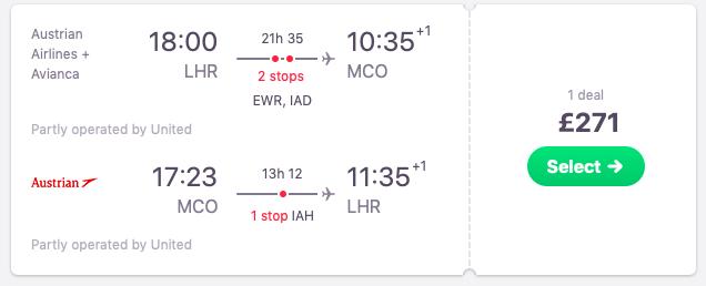 Flights from London to Orlando, Florida