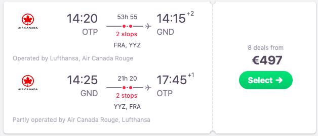 Flights from Bucharest, Romania to Grenada