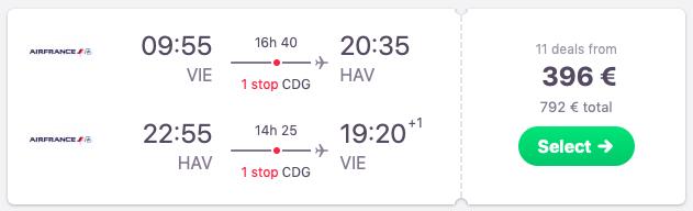 Flights from Vienna, Austria to Havana, Cuba