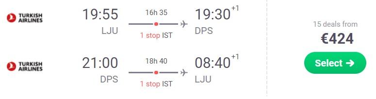 cheap flights ljubljana bali