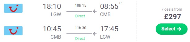cheap flights london sri lanka