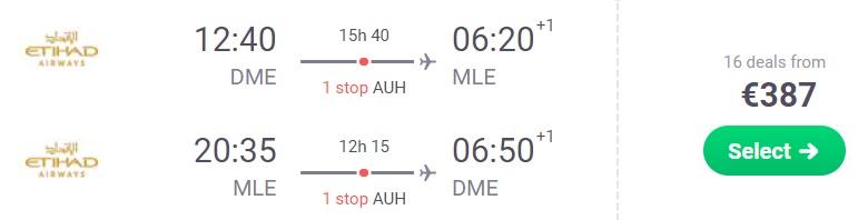cheap flights moscow maldives