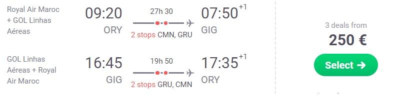 cheap flights paris rio de janeiro