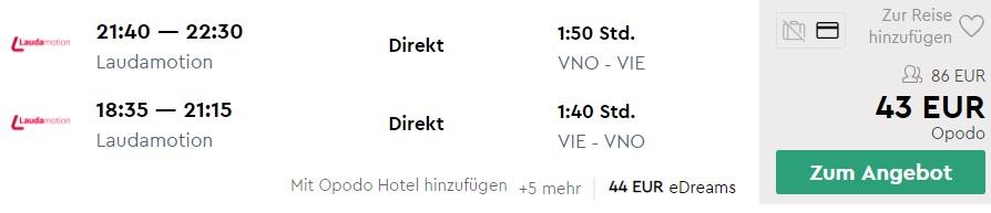 cheap flights vilnius vienna
