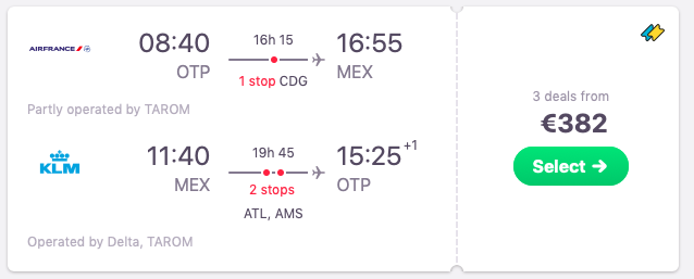Flights from Bucharest, Romania to Mexico City, Mexico