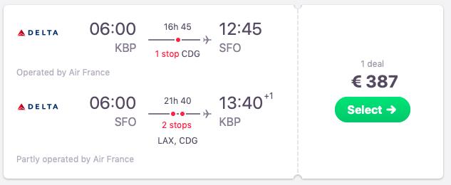 Flights from Kyiv to San Francisco, California