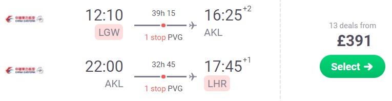 cheap flights london new zealand