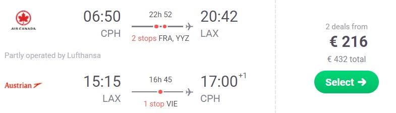 Cheap Flights from Copenhagen to LOS ANGELES