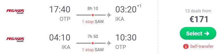Cheap flights from Bucharest to IRAN