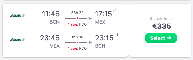 Flights from Barcelona to Mexico City, Mexico