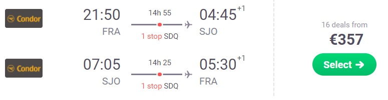 cheap flights frankfurt costa rica