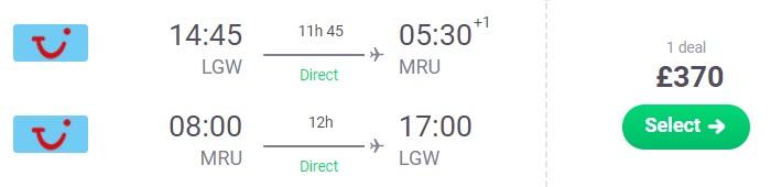 cheap flights london mauritius