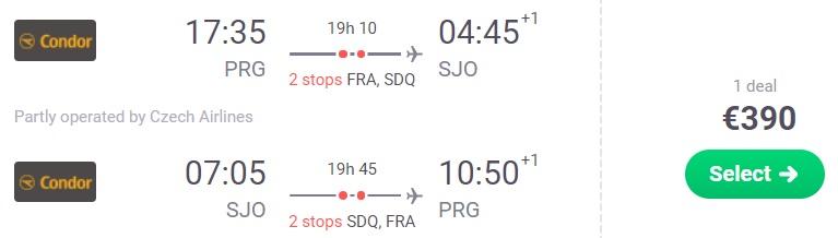 cheap flights prague costa rica