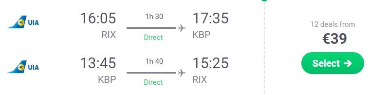 cheap flights riga kyiv