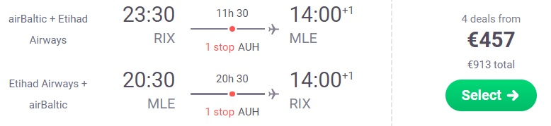 cheap flights riga maldives