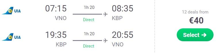 cheap flights vilnius kyiv