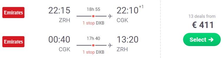 cheap flights zurich jakarta indonesia