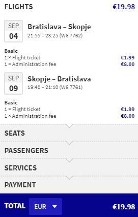 cheap flights bratislava north macedonia