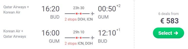 cheap flights budapest guam