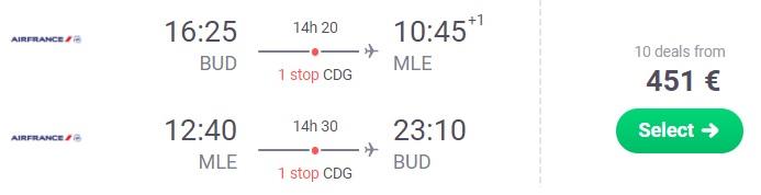 cheap flights budapest maldives male