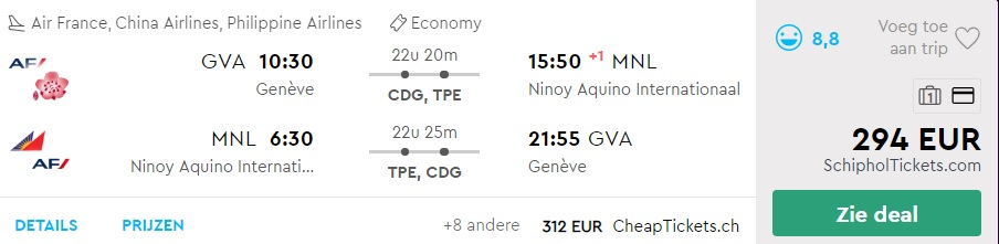 cheap flights geneva philippines