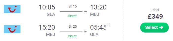 cheap flights glasgow jamaica