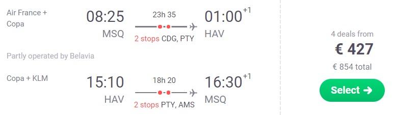cheap flights minsk cuba