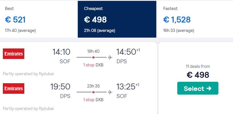 cheap flights sofia bali