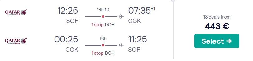 cheap flights sofia jakarta indonesia
