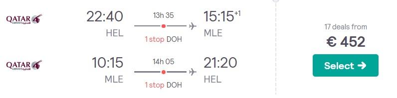 cheap flights to maldives from helsinki