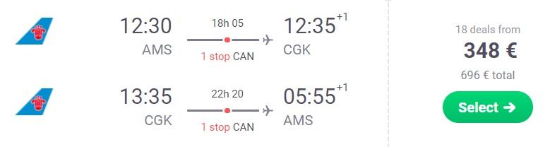 cheap flights amsterdam jakarta indonesia