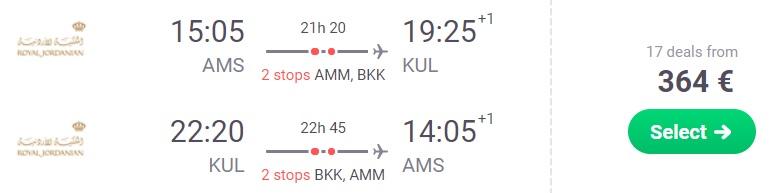 cheap flights amsterdam malaysia