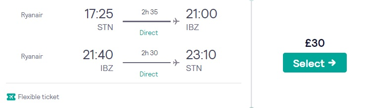 cheap flights london ibiza