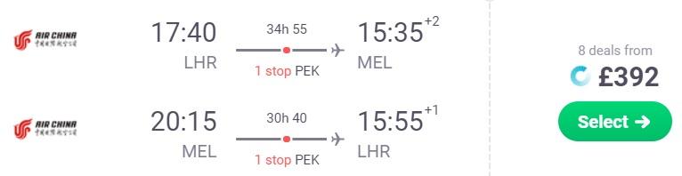 cheap flights london melbourne