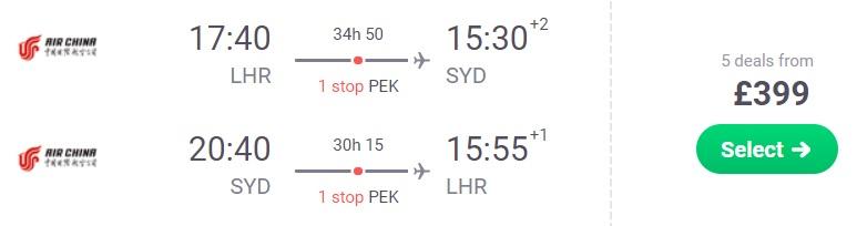 cheap flights london sydney
