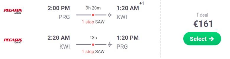 cheap flights prague kuwait