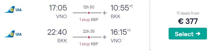 cheap flights vilnius bangkok thailand