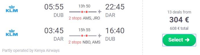 cheap flights dublin tanzania
