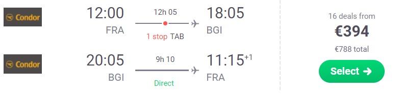 cheap flights frankfurt germany barbados