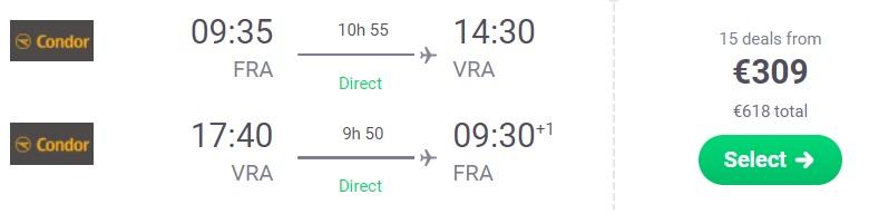 cheap flights germany varadero cuba