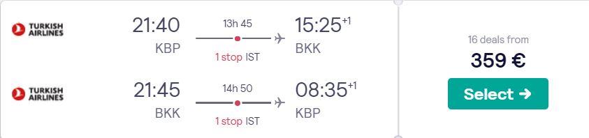 cheap flights kyiv bangkok thailand