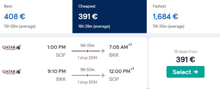 cheap flights sofia bangkok thailand