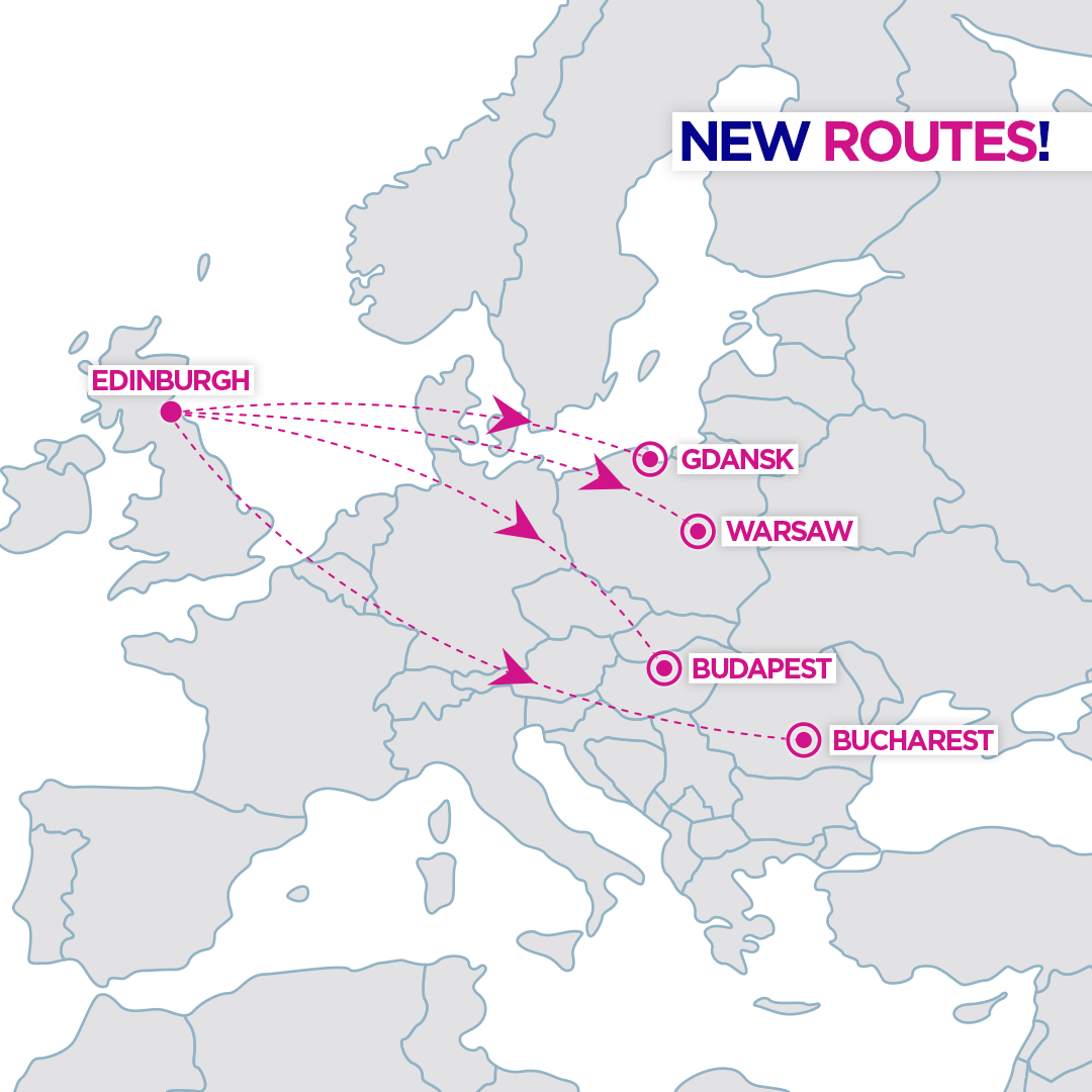 wizz air new routes to edinburgh scotland