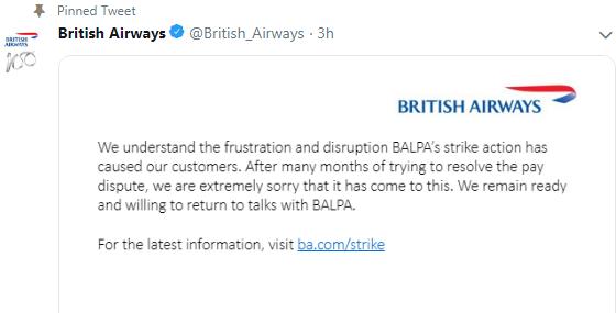 BRITISH AIRWAYS STRIKE: FLIGHTS ARE CANCELLED