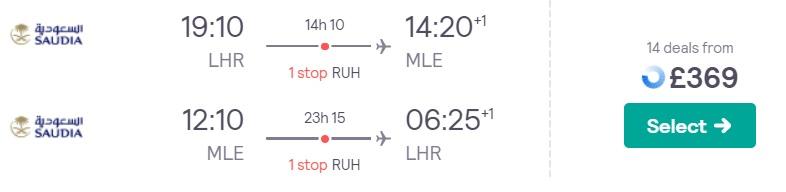 cheap flights london maldives