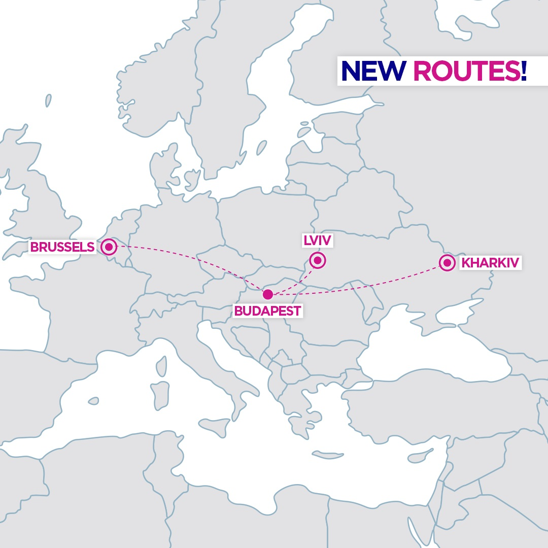 wizz air new routes from budapest hungary