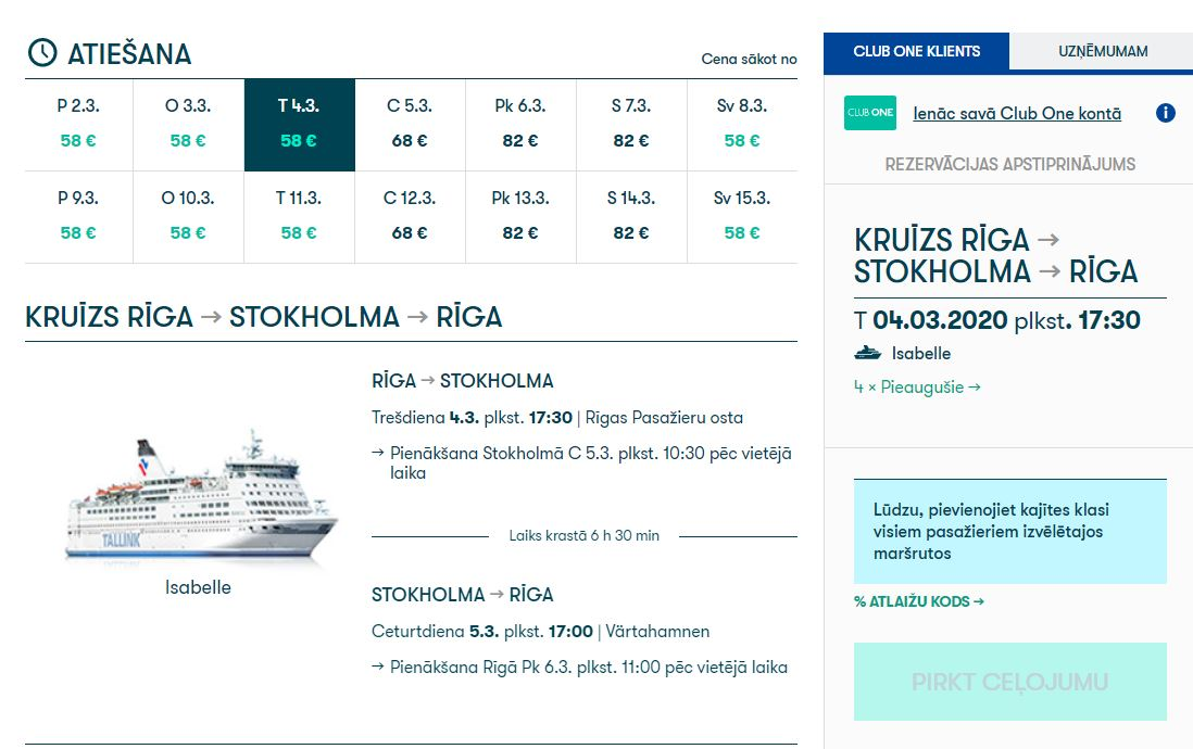 TALLINK PROMOTION CODE 2020