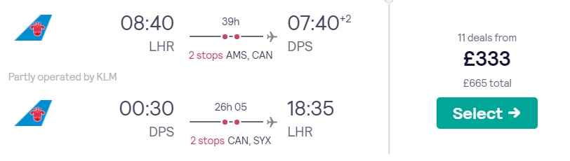 cheap flights london bali